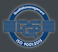 Logo: DQS Qualitätsmanagement ISO 9001:2015