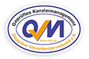 Siegel: Deutscher Steuerberaterverband e.V. - QM - Geprüftes Kanzleimanagement